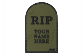 "101 Inc PVC Velcro Patch ""RIP"" (Olive)"