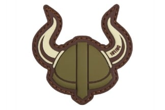 "101 Inc PVC Velcro Patch ""Viking Helmet"" (Olive)"