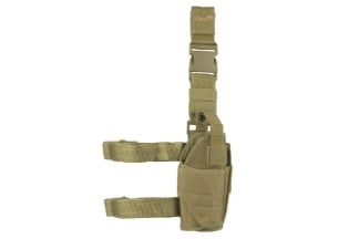 Viper Pistol Drop Leg Adjustable Holster (Coyote Tan)