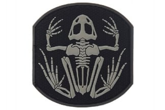 "101 Inc PVC Velcro Patch ""Frog Skeleton"" (Black)"
