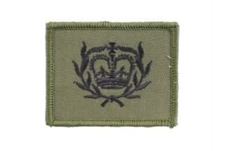 Helmet Rank Patch - WO2 RQMS (Subdued)
