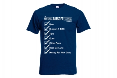 Daft Donkey Special Edition NAF 2018 'Checklist' T-Shirt (Navy)