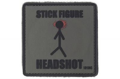 "101 Inc PVC Velcro Patch ""Stick Figure"""