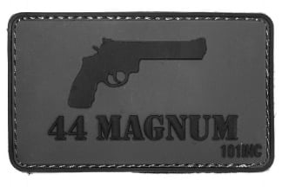 "101 Inc PVC Velcro Patch ""44 Magnum"""