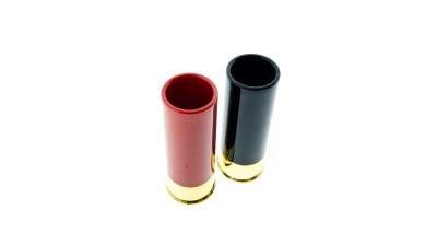 Caliber Gourmet Shotgun Shell Shot Glasses (Black & Red)