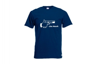 Daft Donkey T-Shirt 'Like Airsoft' (Navy) - Size Medium