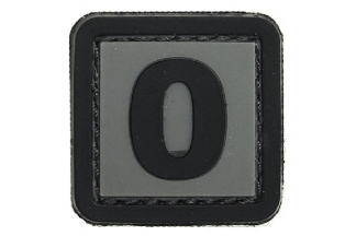 "101 Inc PVC Velcro Patch ""O"""