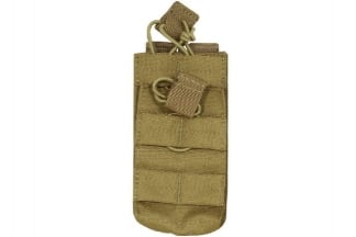 Viper MOLLE Quick Release Stacked Single Mag Pouch (Coyote Tan)