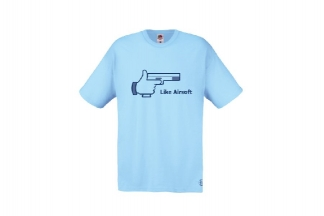 Daft Donkey T-Shirt 'Like Airsoft' (Blue) - Size Small