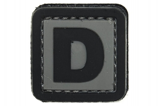 "101 Inc PVC Velcro Patch ""D"""