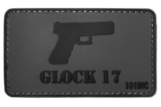 "101 Inc PVC Velcro Patch ""Glock 17"""