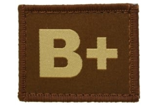 Vanguard Velcro Blood Group Patch B+ (Tan)
