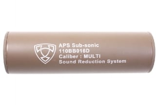 APS Suppressor 14mm CW/CCW 110mm (Dark Earth)