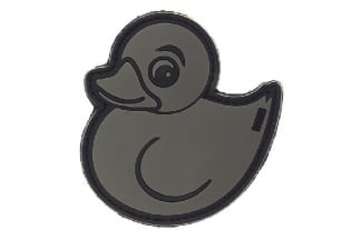"101 Inc PVC Velcro Patch ""Rubber Duck"" (Grey)"