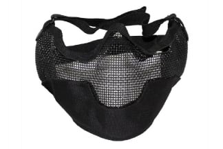 MFH Large Half Face Mesh Mask (Black)