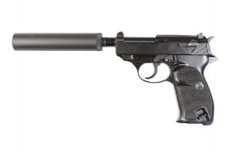 WE GBB P38S with Silencer (Black)