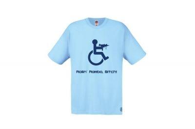 Daft Donkey T-Shirt 'Rollin' Rambo' (Blue) - Size Extra Extra Large