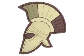 "101 Inc PVC Velcro Patch ""Spartan Helmet"" (Brown)"