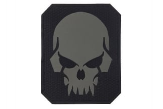 "101 Inc PVC Velcro Patch ""Pirate Skull"" (Grey)"