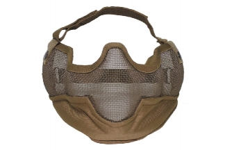 MFH Large Half Face Mesh Mask (Coyote Tan)