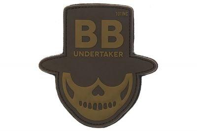 "101 Inc PVC Velcro Patch ""BB Undertaker"" (Brown)"