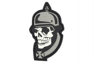 "101 Inc PVC Velcro Patch ""WWI Skull"""