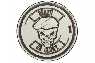 "101 Inc PVC Velcro Patch ""Death or Glory"" (Tan)"