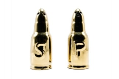Caliber Gourmet Bullet Salt & Pepper Shakers