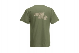 Daft Donkey T-Shirt 'Ground Zero Logo' (Olive) - Size Extra Large