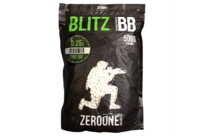 Zero One Blitz Bio BB 0.25g 5000rds (White) Box of 10 (Bundle)