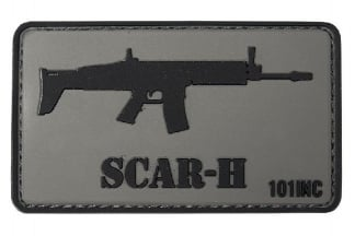 "101 Inc PVC Velcro Patch ""SCAR-H"""