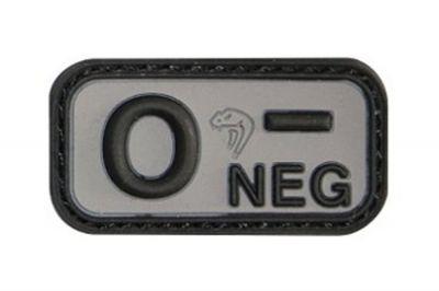 Viper Velcro PVC Blood Group Patch O- (Black)