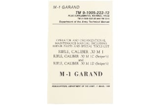 U.S Army M1 Garand Technical Manual