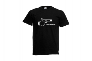Daft Donkey T-Shirt 'Like Airsoft' (Black) - Size Extra Extra Large