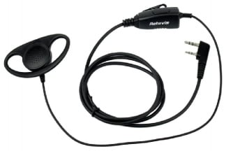 Retevis Radio D-Shape Earpiece