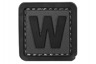 "101 Inc PVC Velcro Patch ""W"""