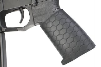 Zero One Rubber Hex Grip Sleeve for Pistols & Rifles (Black)