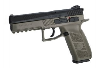 ASG GBB GAS/CO2 CZ P-09 with Metal Slide & Carry Case (Black/Dark Earth)