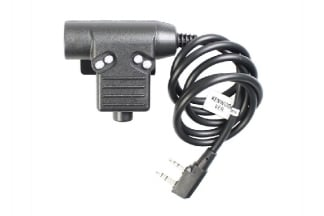 Z-Tactical ZU94 Clip-On PTT Adaptor for Bowman Headset fits Kenwood Double Pin