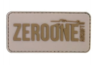 Zero One PVC Velcro Patch 'Zero One Logo' (Tan)