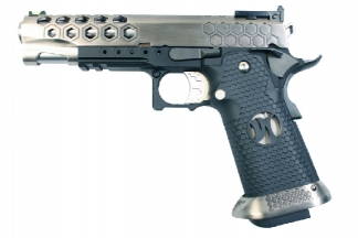 Armorer Works GBB GAS/CO2 DualFuel Hi-Capa HX25 (Silver/Black)