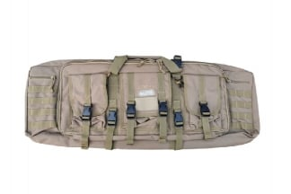 Humvee Rifle Case with Side Pouches & Shooting Mat (Tan)
