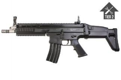 WE GBB SCAR-L (Black) with Tier 2 Upgrades (Bundle)