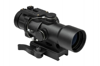 NCS 3.5x32 Blue/Green Illuminating Scope with P4 Sniper Reticule, QD Mount & Reflex Sight Base