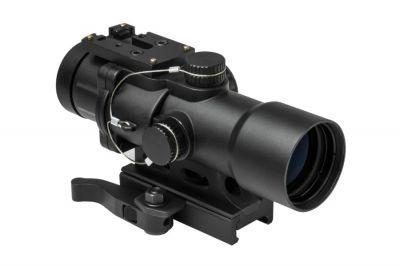 NCS 3.5x32 Blue/Green Illuminating Scope with P4 Sniper Reticule, QR Mount & Reflex Sight Base
