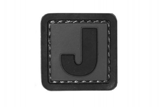 "101 Inc PVC Velcro Patch ""J"""