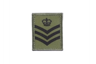 Helmet Rank Patch - S/Sgt (Subdued)