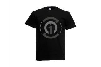 Daft Donkey T-Shirt 'Subdued Zero One Logo' (Black) - Size Small