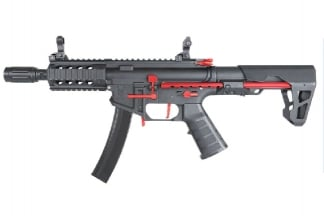 King Arms AEG PDW 9mm SBR Shorty (Black / Red)