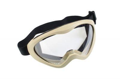 Matrix Tactical Goggles - Clear (Tan)